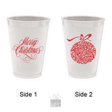 Christmas Ornament Frost Flex Plastic Cups