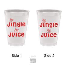 Christmas Jingle Juice Frost Flex Plastic Cups