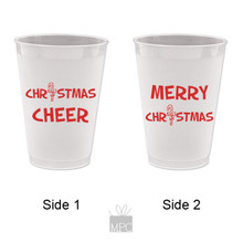 Christmas Cheer Merry Christmas Frost Flex Plastic Cups