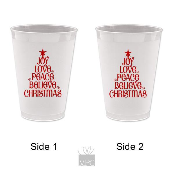 Christmas Tree Made Of Plastic Cups: Christmas Frost Flex Plastic Cups, Christmas Tree