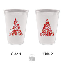 Christmas Joy Love Peace Frost Flex Plastic Cups