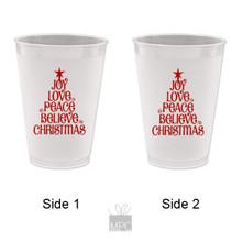 Christmas Joy Love Peace Frost Flex Plastic Cups