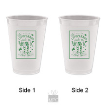 St Patrick's Day Irish Drink It Frost Flex Plastic Cups