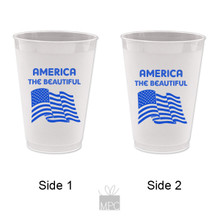 Frost Flex Plastic Cup  4th of July     JU11