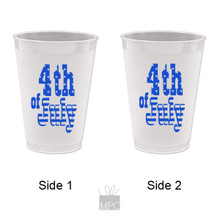 Frost Flex Plastic Cup  4th of July     JU12
