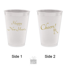 New Year Happy New Year's 2 Frost Flex Plastic Cups