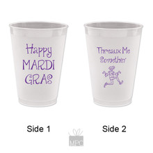 Mardi Gras Threaux Me Something 2 Frost Flex Plastic Cups