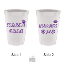 Mardi Gras Crown Frost Flex Plastic Cups