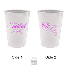 Baby Shower It's A Girl Tickled Pink Frost Flex Plastic Cups