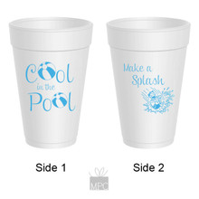 Summer Cool Pool Make A Splash Styrofoam Cups