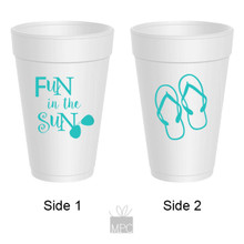 Summer Fun In The Sun Flip Flops Styrofoam Cups