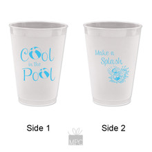 Summer Make A Splash Pool Party Frost Flex Plastic Cups