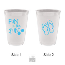 Summer Fun in The Sun Flip Flops Frost Flex Plastic Cups