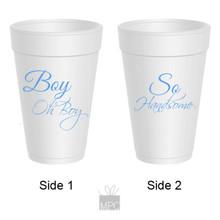Baby Shower Boy Oh Boy Styrofoam Cups