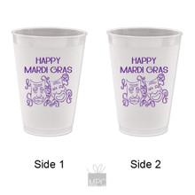 Mardi Gras Masks Frost Flex Plastic Cups
