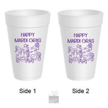 Mardi Gras Masks Styrofoam Cups