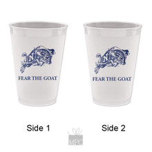 Fear The Goat Frost Flex Plastic Cups