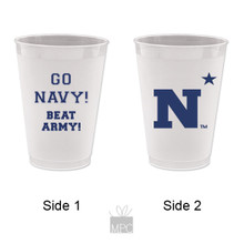 Go Navy Beat Army Frost Flex Plastic Cups