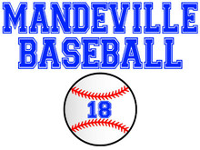 Mandeville High School Baseball Yard Sign
