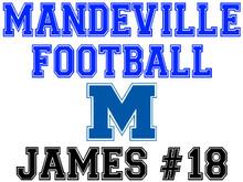 Mandeville High School Football Yard Sign (M)