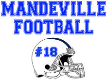 Mandeville High School Football Yard Sign (Helmet)