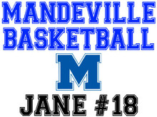Mandeville High School Basketball Yard Sign (M)