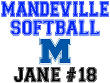 Mandeville High School Softball Yard Sign (M)