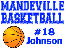 Mandeville High School Basketball Yard Sign