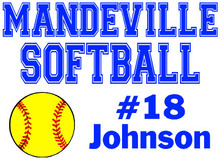 Mandeville High School Softball Yard Sign