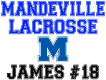 Mandeville High School Lacrosse Yard Sign (M)