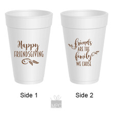 Thanksgiving Friendsgiving Styrofoam Cups