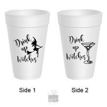 Halloween Drink Up Witches Martini Styrofoam Cups