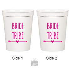 Bachelorette Bride Tribe White Stadium Plastic Cups
