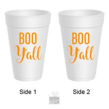 Halloween Boo Y'all Styrofoam Cups