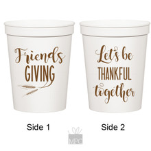 Thanksgiving Friendsgiving, Let's Be Thankful Together White Stadium Plastic Cups