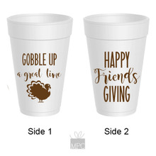 Thanksgiving Friendsgiving, Gobble Up A Great Time Styrofoam Cups