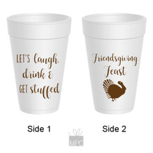 Thanksgiving Friendsgiving Feast Styrofoam Cups