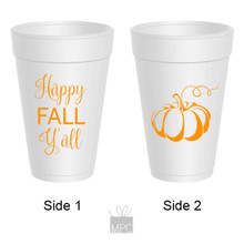 Thanksgiving Happy Fall Y'all Styrofoam Cups