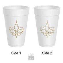 Fleur De Lis New Orleans Styrofoam Cups