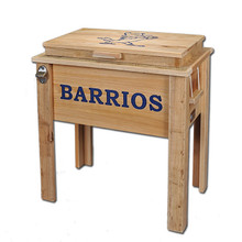 Louisiana Cypress Ice Chest - Natural Finish - Personalized