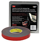 "3M™ ⅞"" x 20yds Black Automotive Acrylic Attachment Tape"