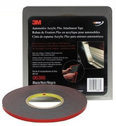 "3M™ ¼"" x 20yds Black Automotive Acrylic Attachment Tape"