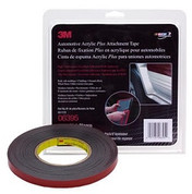 "3M™ ⅞"" x 10yds Black Automotive Acrylic Attachment Tape"