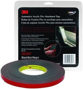 "3M™ ½"" x 10yds Black Automotive Acrylic Attachment Tape"