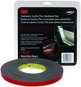"3M™ ½"" x 10yds Black Automotive Acrylic Attachment Tape"