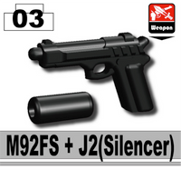 M92 Pistol with silencer