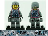 Digital Blue Camo Printed B12 Tactical Vest