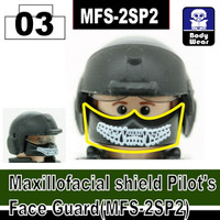 (White Print) Maxillofacial Shield Face Guard MFS-2