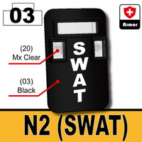 "Printed ""SWAT"" Bulletproof Shield N2"