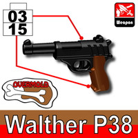 Overmolded Walther P38 Pistol